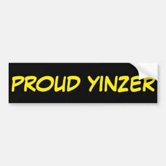 PROUD YINZER BUMPER STICKER