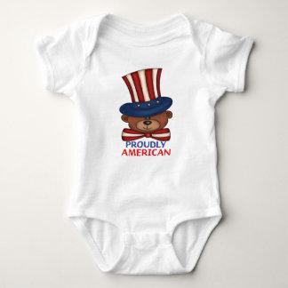 "Proudly American""Baby Bodysuit"