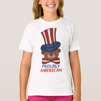 "Proudly American""Girls T-shirt"