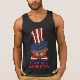 "Proudly American""Men's Tank Tops"