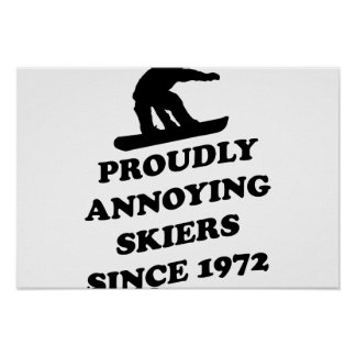 Proudly Annoying Skiiers Since 1972 Poster