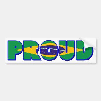 Proudly Brazilian Bumper Sticker