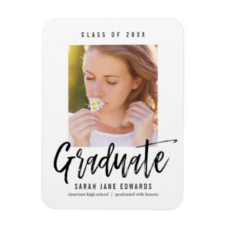 Proudly Brushed Graduation Announcement Magnet