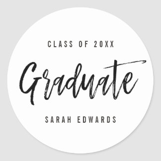 Proudly Brushed Graduation Favor Stickers