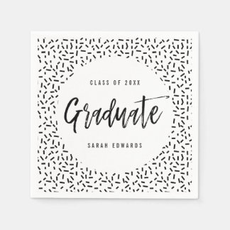 Proudly Brushed Graduation Party Napkins Paper Napkin