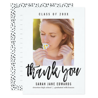 Proudly Brushed Graduation Thank You Note 13 Cm X 18 Cm Invitation Card