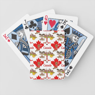 Proudly Canadian Beaver Bicycle Playing Cards