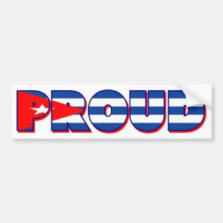 Proudly Cuban Bumper Sticker