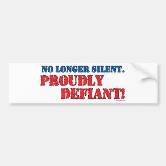 Proudly Defiant 2 Bumper Sticker
