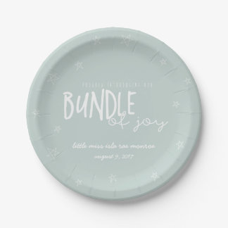 PROUDLY INTRDUCING OUR BUNDLE OF JOY(MINT) PAPER PLATE