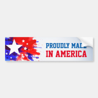 Proudly Made in America personalized Bumper Sticker