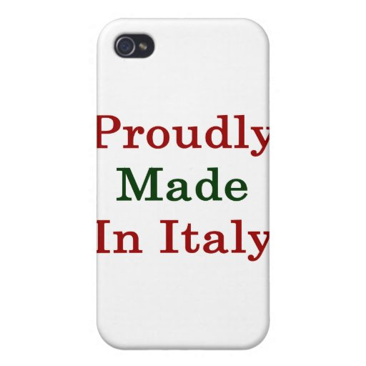 Proudly Made In Italy iPhone 4/4S Cover