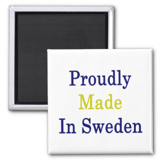 Proudly Made In Sweden Square Magnet
