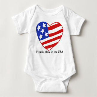 Proudly Made in the USA Baby Bodysuit