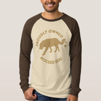 Proudly Owned by a Rescue Dog 24 T-shirt