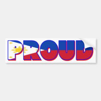 Proudly Philippino Bumper Sticker