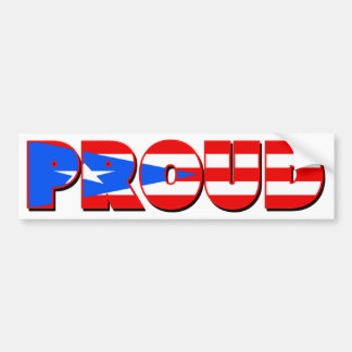Proudly Puerto Rican Bumper Sticker