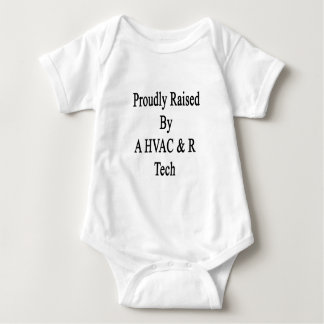 Proudly Raised By A HVAC R Tech Baby Bodysuit