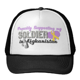 Proudly Supporting My Soldier in Afghanistan Mesh Hat