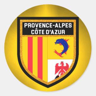 Provence-Alpes-Côte d'Azur Flag Classic Round Sticker