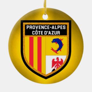 Provence-Alpes-Côte d'Azur Flag Round Ceramic Decoration