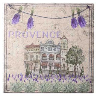 Provence France Lavender Flower Summer Love Large Square Tile