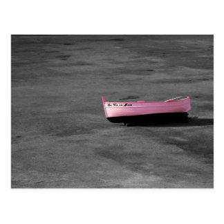 Provence - La vie en rose boat postcard