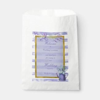 Provence Lavender Purple Flower Floral Wedding Favour Bag