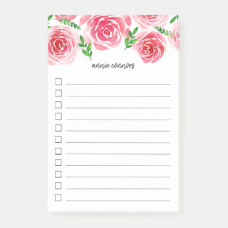 Provence Rose | Lined To Do List Post-it Notes