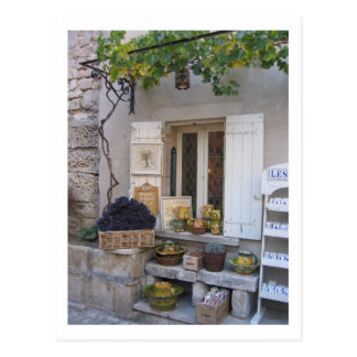 Provence Store Front Display Postcard