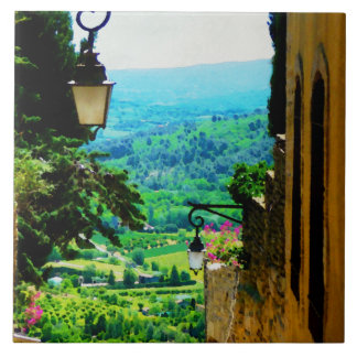 Provence view from Gordes Ceramic Tile