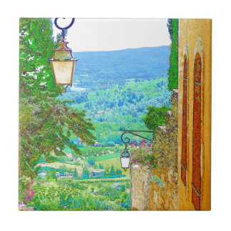 Provence View Small Square Tile