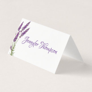 Provence violet lavander place card