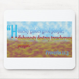 proverbs 11:3 mouse pad