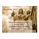 Proverbs 18 17 Scripture Memory Card Postcard