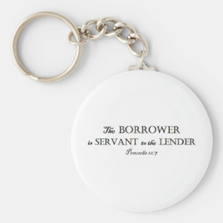 Proverbs 22:7 Borrower is Servant Christian Key Ring