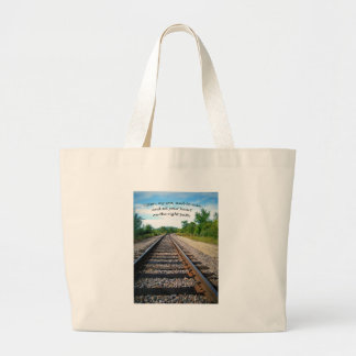Proverbs 23:19 large tote bag