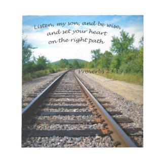 Proverbs 23:19 notepad