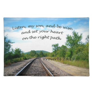 Proverbs 23:19 placemat