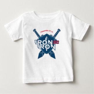 Proverbs 27:17 Iron Sharpens Iron Baby T-Shirt