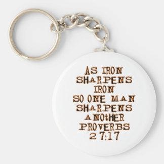 Proverbs 27:17 key ring