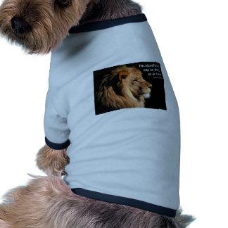 Proverbs 28:1 doggie tshirt