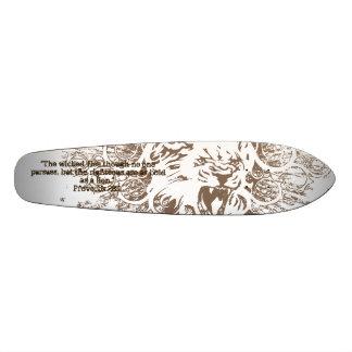 Proverbs 28:1 skateboard