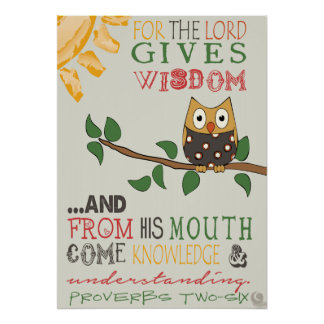 Proverbs 2:6 Poster