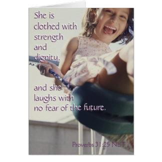 Proverbs 31:25 notecard