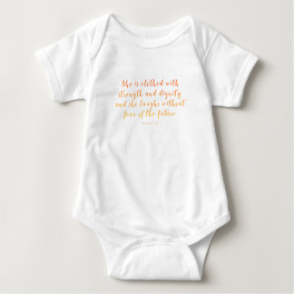 Proverbs 31:25 She is Clothed Baby Bodysuit