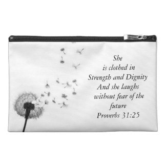 Proverbs 31:25 travel accessory bag