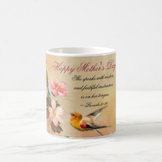 Proverbs 31:26, Bible Verse, Mother's Day Vintage Coffee Mug