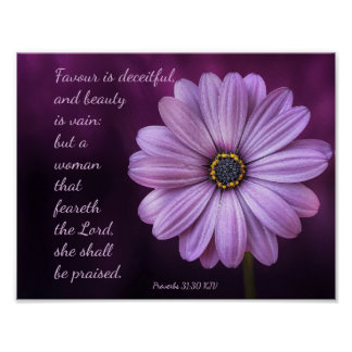 Proverbs 31:30 - A woman that feareth the LORD Poster