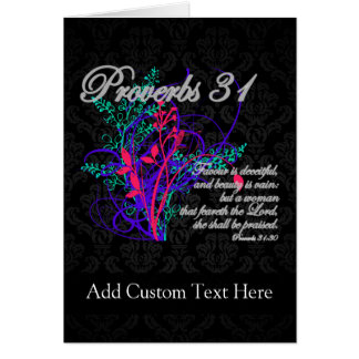 Proverbs 31 Bible Christian Women's Greeting Card